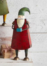 Load image into Gallery viewer, Vintage Christmas Santa holding a present or gift. Shef sitter from Mud Pie