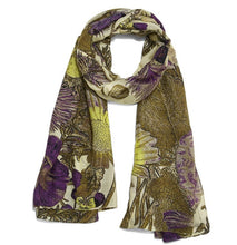 Load image into Gallery viewer, Hand Screened Thistle Scarf by 100 Stars