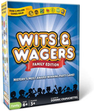 Load image into Gallery viewer, wits and wagers game family edition