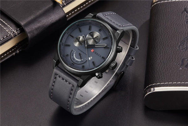 Genuine Men's Leather Watch