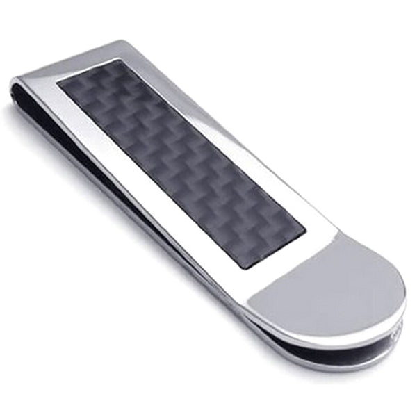 High Quality Stainless Steel Carbon Fiber Men's Money Clip