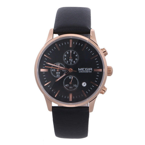 Limited Edition MEGIR Luxury Men's Chronograph Watch