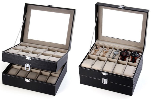 Grids Watch Display Case Box