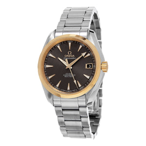 Omega Men's 231.20.39.21.06.004 'Seamaster 150' Taupe Dial Stainless Steel Two Tone Swiss Automatic
