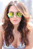 Pau Rio Aviator - Gold Mirror Sunglasses