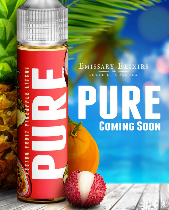 Litchi Pineapple and Passion Fruit By Pure(120ml)