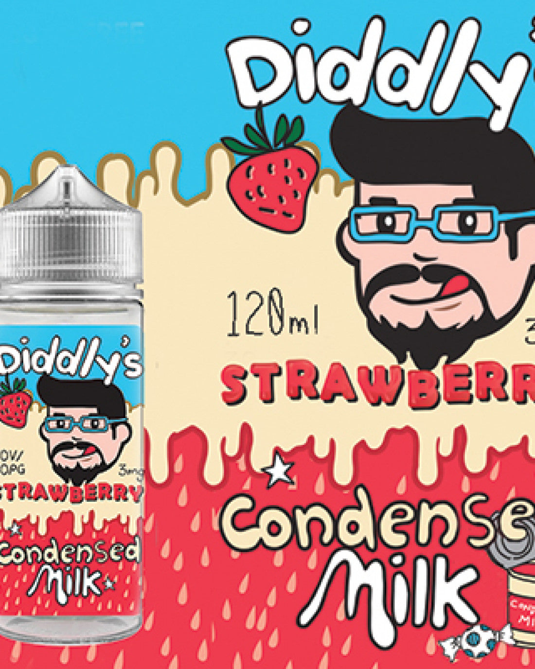 One Cloud Strawberry Condensed Milk 3MG (120ML)