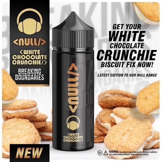 White Chocolate Crunch By Null 3mg (120ml)