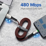 INIU 2m 3A LED USB Cable Charger For iPhone 11 Pro XS MAX XR X 8 7 6S 6 Plus 5 5S Fast Charging Mobile Phone Charge Data Cord - Stardust Hut