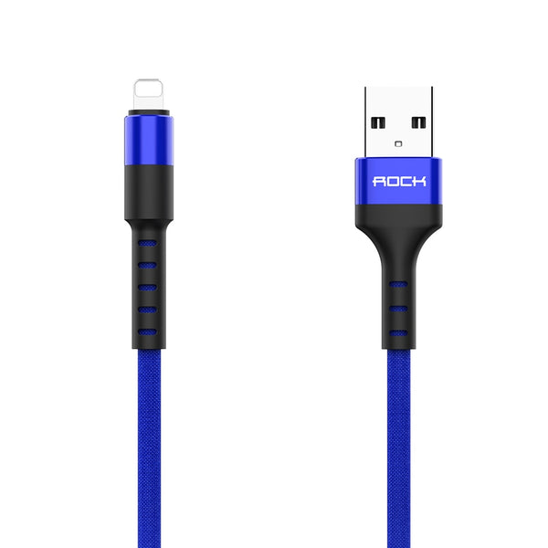 ROCK Knit USB Cable For iPhone 11 pro max Xr X 8 7  plus iPad Fast Charging Mobile Phone Cable Cord Data Charger Wire For iPhone - Stardust Hut