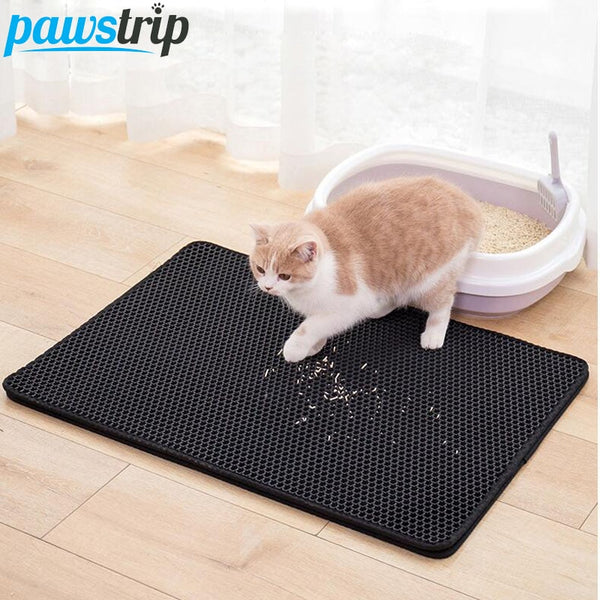Waterproof Pet Cat Litter Mat EVA Double Layer Cat Litter Trapping Pet Litter Cat Mat Clean Pad Products For Cats Accessories - Stardust Hut