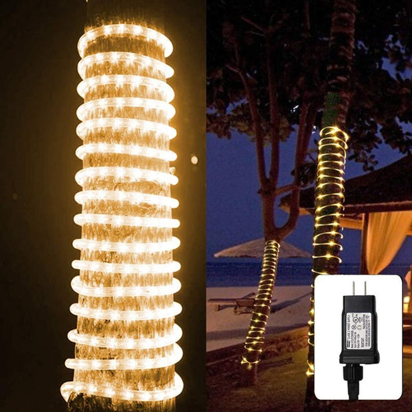 LED Rope Lights 8 Modes Dimmable String Lights 220v-110V Waterproof For Outdoor Garden Patio Wedding Party  Christmas Holiday - Stardust Hut
