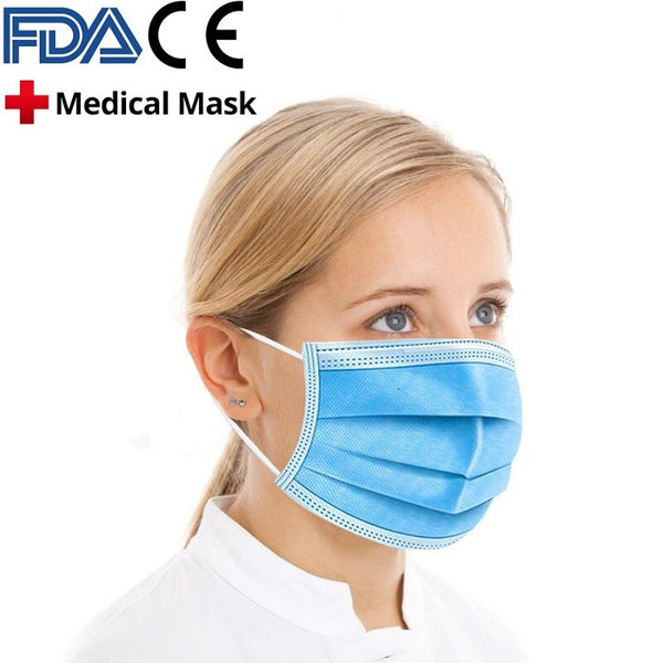 10PCS-200PCS High Quality Mask Earloop Face Mouth Masks Three-layer Protective Mask Mask Anti-bacterial Mask - Stardust Hut