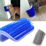 Cat Self Groomer Brush Pet Grooming Supplies Hair Removal Comb for Cat Dog Hair Shedding Trimming Cat Massage Device with catnip - Stardust Hut