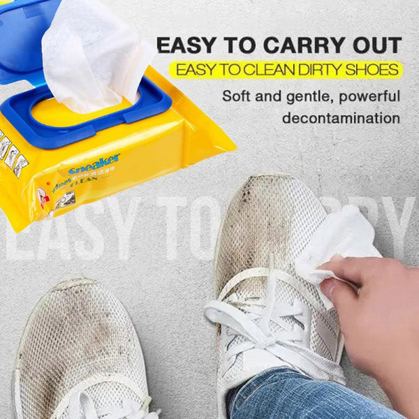 30Pcs White Shoes Artifact Travel cleaning Wet Wipe Mobile Phone Sneakers Clean Wipe Disposable Disinfection Cleaning Care #0103 - Stardust Hut