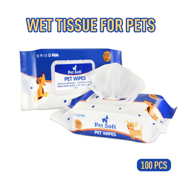 100pcs/bag Pet Cleanig Wipes Natural And Gentle Wipes For Removing Eye Stains And Odor Pet Disinfection Towel Grooming Supplies - Stardust Hut