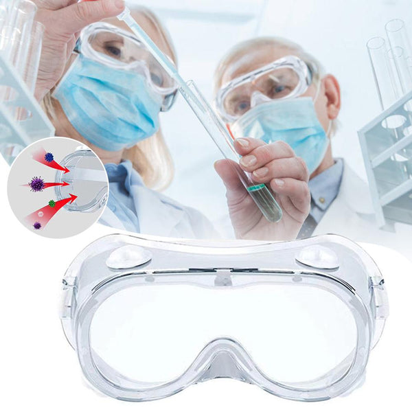 Eye Protective Safety Goggles Wide Vision Disposable Indirect Vent Anti-Fog Anti-virus Medical Splash Goggles Security Supplies (1pc random color) - Stardust Hut