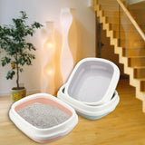 Puppy Cat Indoor Home Plastic Sandbox With Scoop Cat Litter Box Cat Dog Tray Pet Dog Toilet Bedpan Teddy Anti-Splash Toilette - Stardust Hut