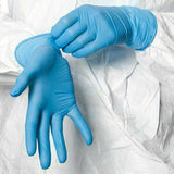 100pcs Wear-Resistant Durable Nitrile Disposable Gloves Rubber Latex Food Medical Household Cleaning Gloves Anti-Static Blue - Stardust Hut