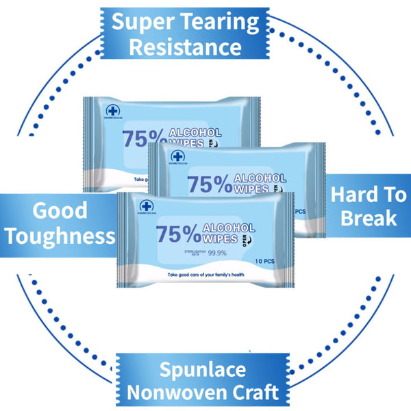 75% Alcohol Disinfection Wipes Without Irritating Or Drying Your Skin Disinfection Cleaning 10 Pcs / Bag - Stardust Hut