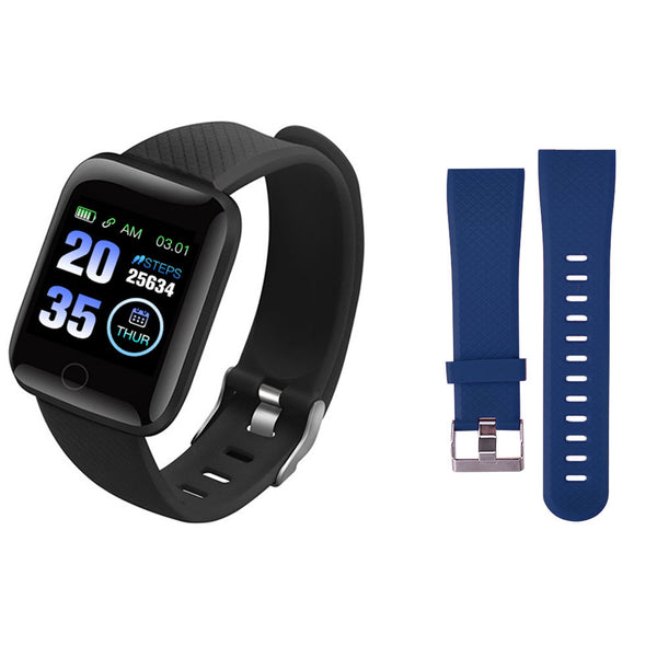 116 Plus Smart Wristband D13 Sports Fitness Bracelet D18 Smart Bracelet Blood Pressure Measurement Pedometer Smartband Watch - Stardust Hut