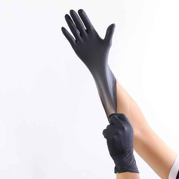 100Pcs Disposable Nitrile Gloves Food Prep Cooking Gloves Household Wear Resistance Cleaning Washing Glove Safety Exam Glove - Stardust Hut