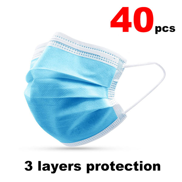 3 Layer protection dust Masks Face Mask Disposable Mask Elastic Ear Loop Breathable Anti-Dust Filter Safety Mask Respirator - Stardust Hut