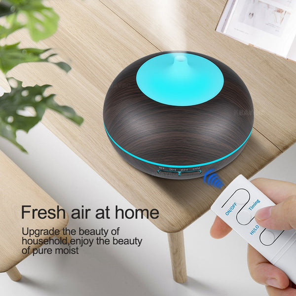 KBAYBO 550ml USB Air Humidifier Aroma Diffuser remote control 7 Colors Changing LED Lights cool mist maker Air Purifier for Home - Stardust Hut