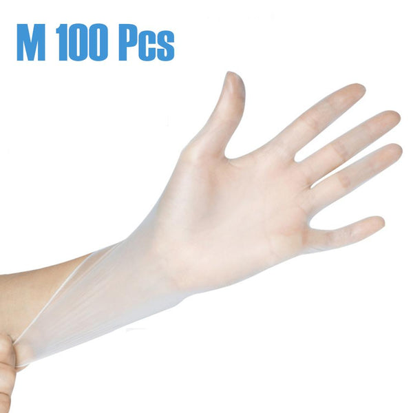 100Pcs Disposable Gloves PVC Universal Kitchen/Dishwashing/Anti-bacterial/Work/Rubber/Garden Gloves For Left and Right hand - Stardust Hut