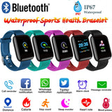 Smart Bracelet Blood Pressure Measurement Waterproof Fitness Tracker Watch Heart Rate Monitor Pedometer Smart Band Women Men - Stardust Hut
