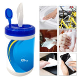 60PCS Disposable Wet Wipes Moist Non-Woven Fabrics Cleaning Wipes Disinfection Towelettes For Adults Baby Car Cleaning - Stardust Hut
