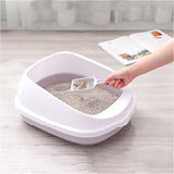 Pet Toilet Bedpan Anti Splash Cats Litter Box Cat Dog Tray with Scoop Kitten Dog Clean Toilette Home Plastic Sand Box Supplies - Stardust Hut