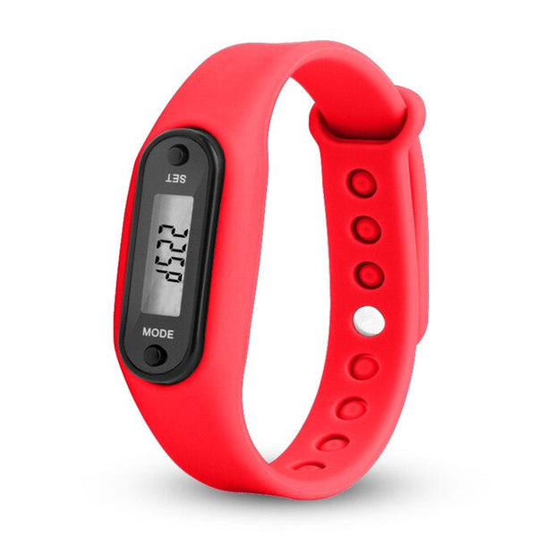 Run Step Watch Bracelet Pedometer Calorie Counter Digital LCD Walking Distance Electronic Watch digital Watch fashion gif Men's - Stardust Hut