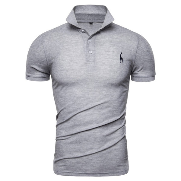 NEGIZBER New Man Polo Shirt Mens Casual Deer Embroidery Cotton Polo shirt Men Short Sleeve High Quantity polo men - Stardust Hut