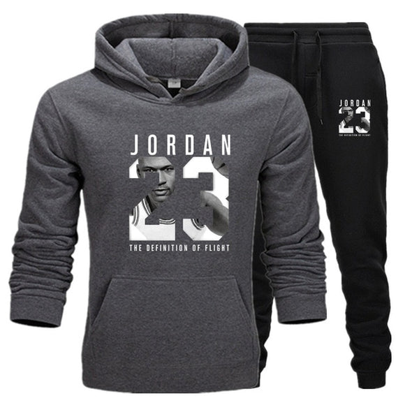 New Men Hoodies Suit Jordan 23 Tracksuit Sweatshirt Suit Fleece Hoodie+Sweat pants Jogging Homme Pullover 3XL Sporting Suit Male - Stardust Hut