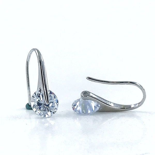 Italian Zircon Engagement Silver Earrings - Stardust Hut