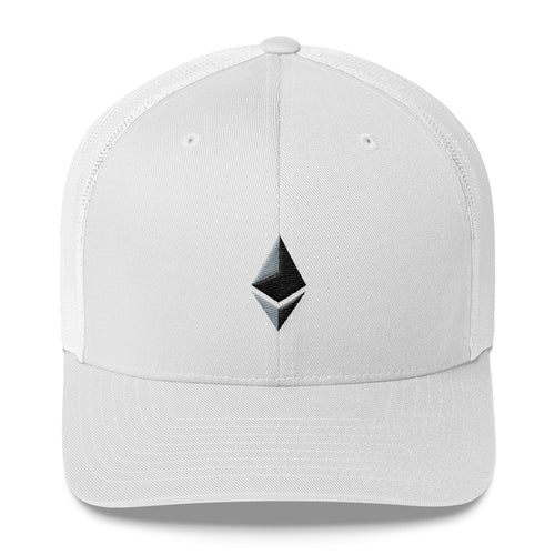 Ethereum Hat - Official Ethereum Logo - Hats to show your support for Bitcoin, Ether, Monero, Steem or your favorite Cryptocurrency.
