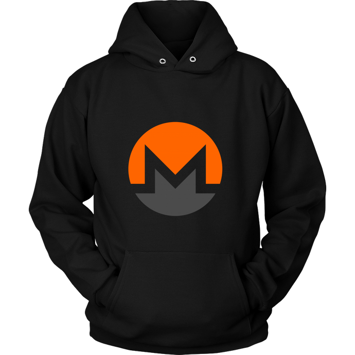 Monero Hoodie - Official Monero XMR Logo - Hoodies to show your support for Bitcoin, Ethereum, Monero, Steem or your favorite Cryptocurrency.