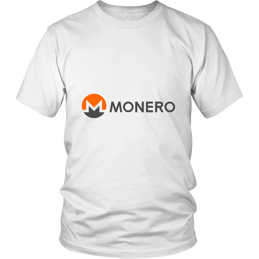 Monero T-Shirt - Official Monero Logo and Name - Shirts to show your support for Bitcoin, Ethereum, Monero, Steem or your favorite Cryptocurrency.