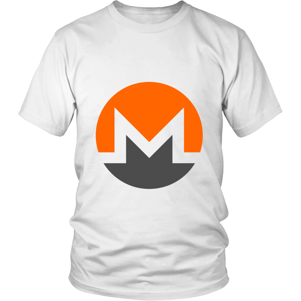 Monero T-Shirt - Official Monero Logo - Shirts to show your support for Bitcoin, Ethereum, Monero, Steem or your favorite Cryptocurrency.