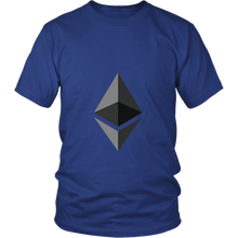 Ethereum T-Shirt - Official Ethereum Logo - Shirts to show your support for Bitcoin, Ether, Monero, Steem or your favorite Cryptocurrency.