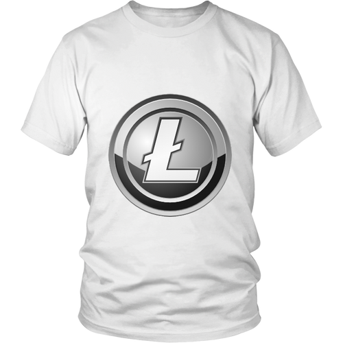 Litecoin T-Shirt - Official Litecoin Logo - Shirts to show your support for Bitcoin, Ethereum, Litecoin, Steem or your favorite Cryptocurrency.