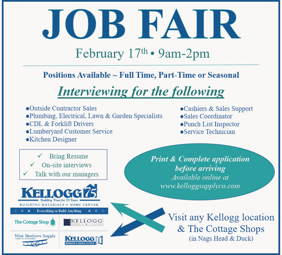 Job Fair - February 17th (9am-2pm)