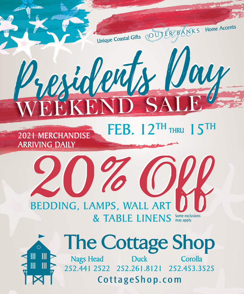 Presidents Day Weekend Sale!!