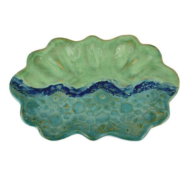 Oblong Scallop Edge Tray