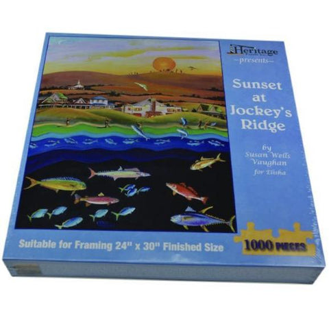 Sunset at Jockey's Ridge - Jigsaw Puzzle