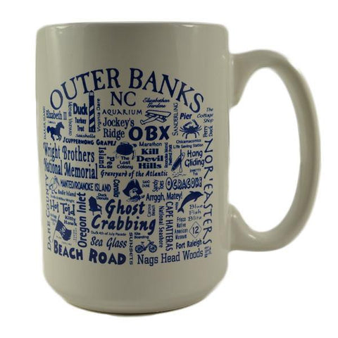Outer Banks Coffee Mug - White