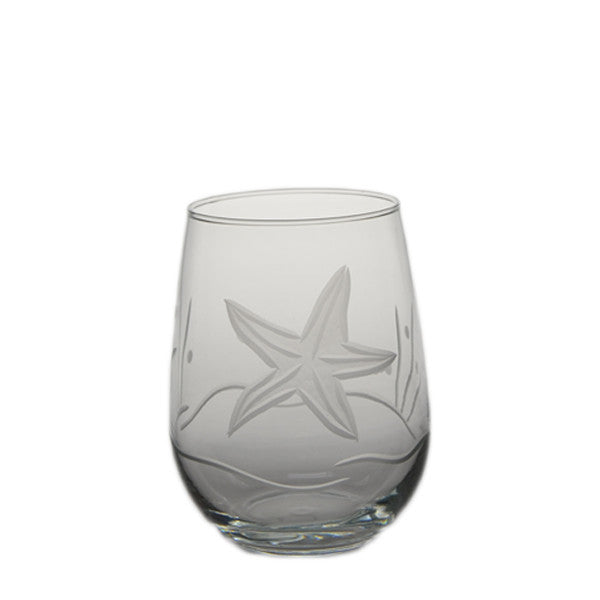 Starfish Stemless Wine Glass 17oz