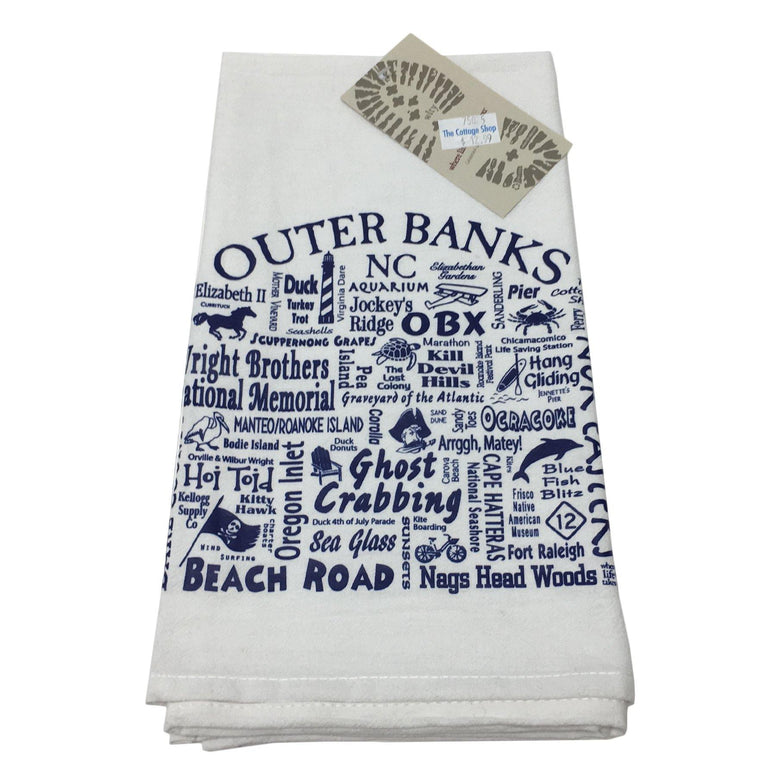 "Outer Banks ""Where life takes you"" Kitchen Towel"