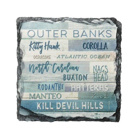 Outer Banks Slate Coaster